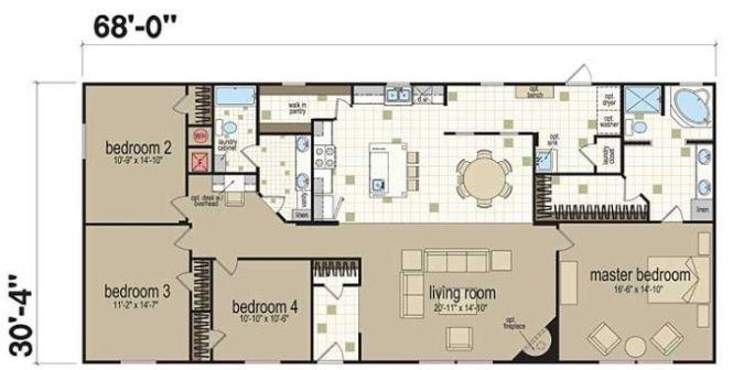 4 Bedroom 2 Bath Single Wide Mobile Home Floor Plans Bedroom. Double Wide Mobile Home Floor Plans Double Wide Mobile Home Floor