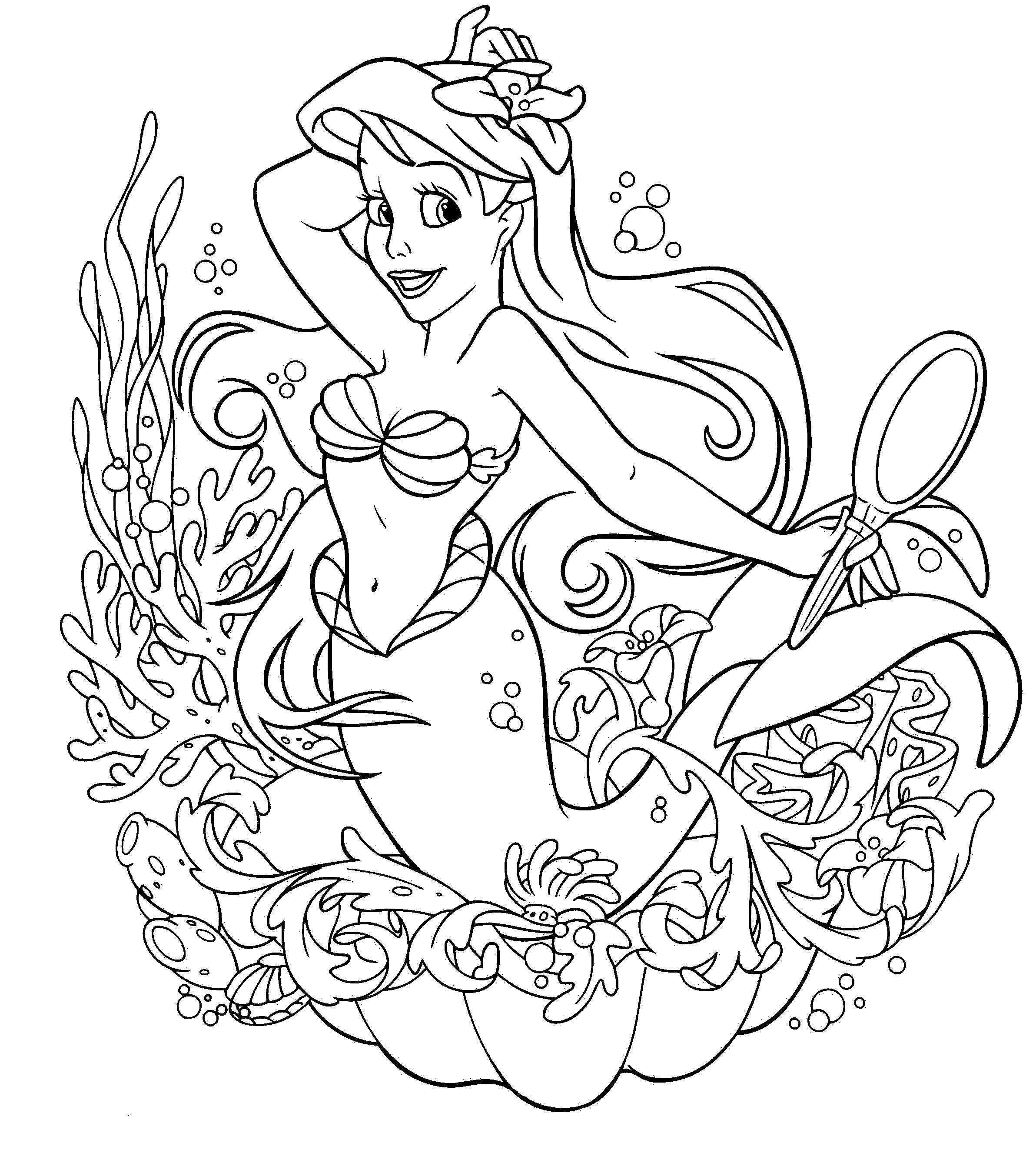 Awesome Coloring Pages Coloring Pages Pinterest Mermaid