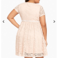 Lace dress torrid  NWT torrid size  blush pink lace skater dress NWT torrid size