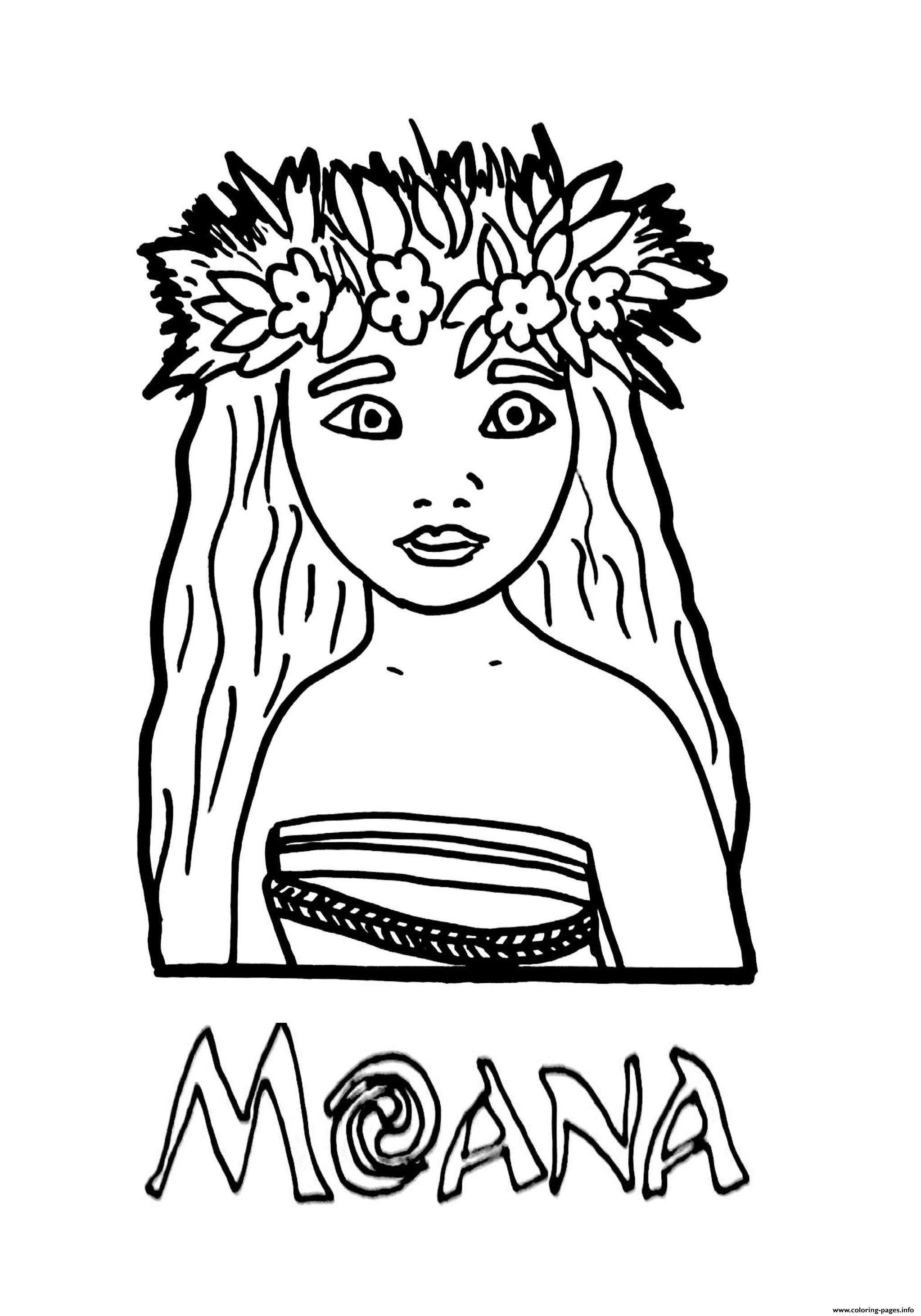 Coloring Pagesfo Moana Princess Printable Coloring
