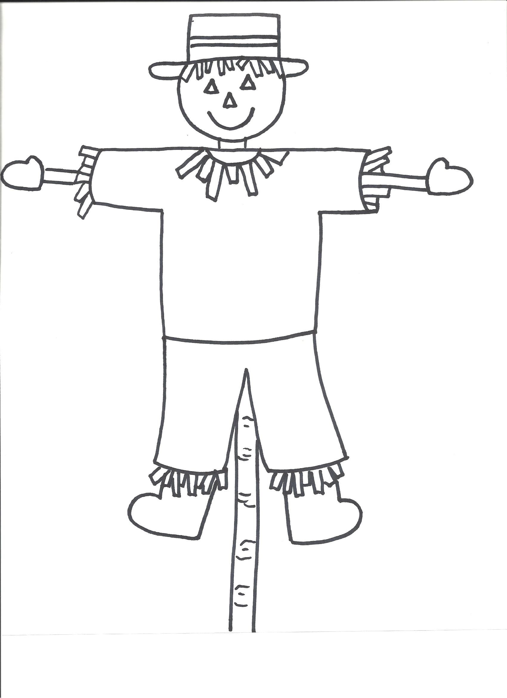 Scarecrow Tracing Worksheets