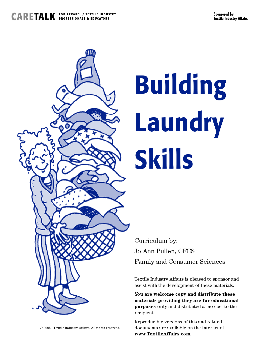 Free Laundry Curriculum With Worksheets And Printable Care