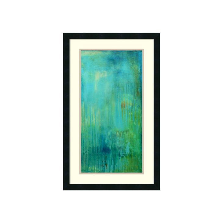 Amanti Art Erin Ashley Blue Mountain Rain II Framed Wall Art Black