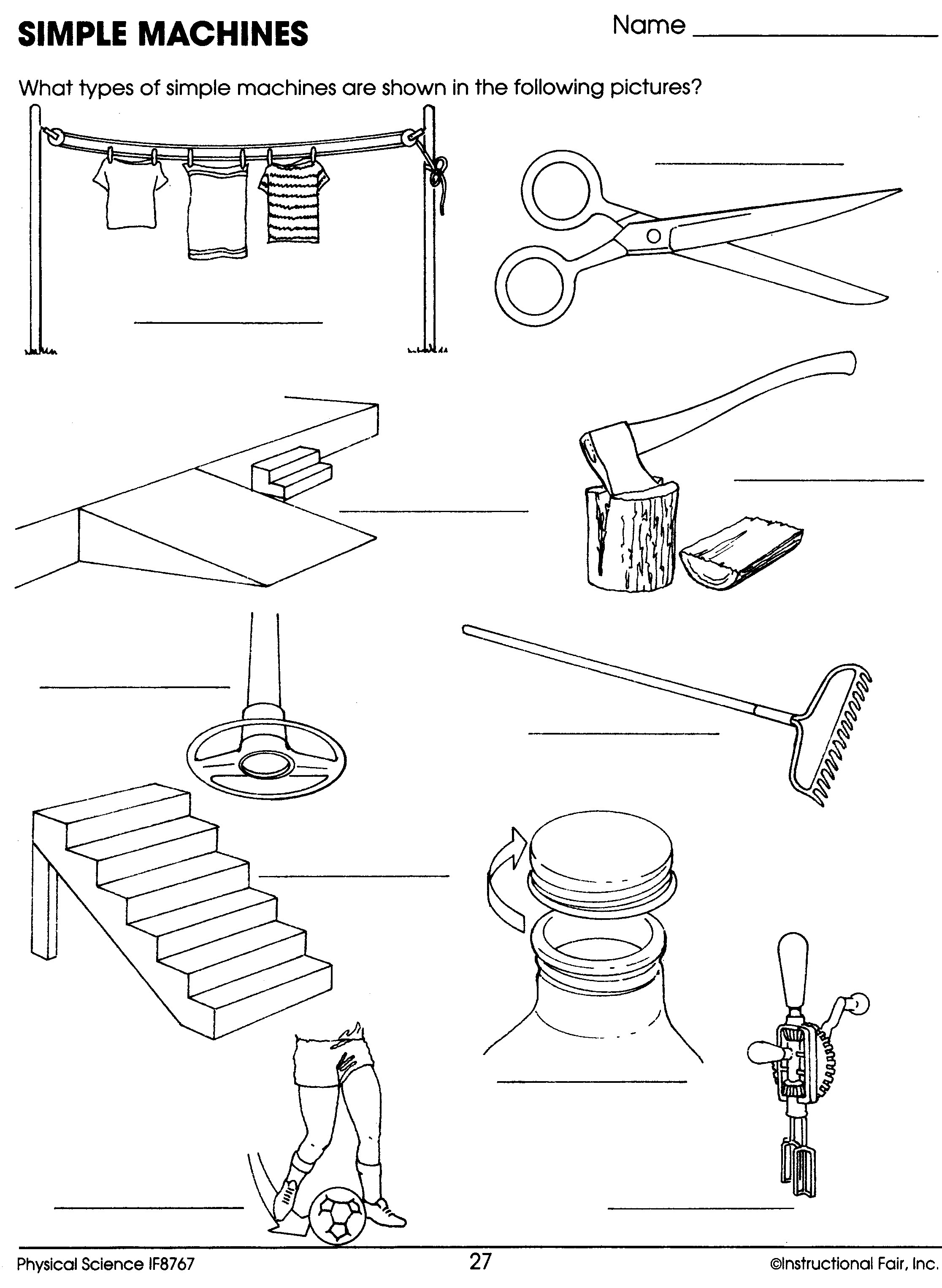 Simple Machines Worksheet