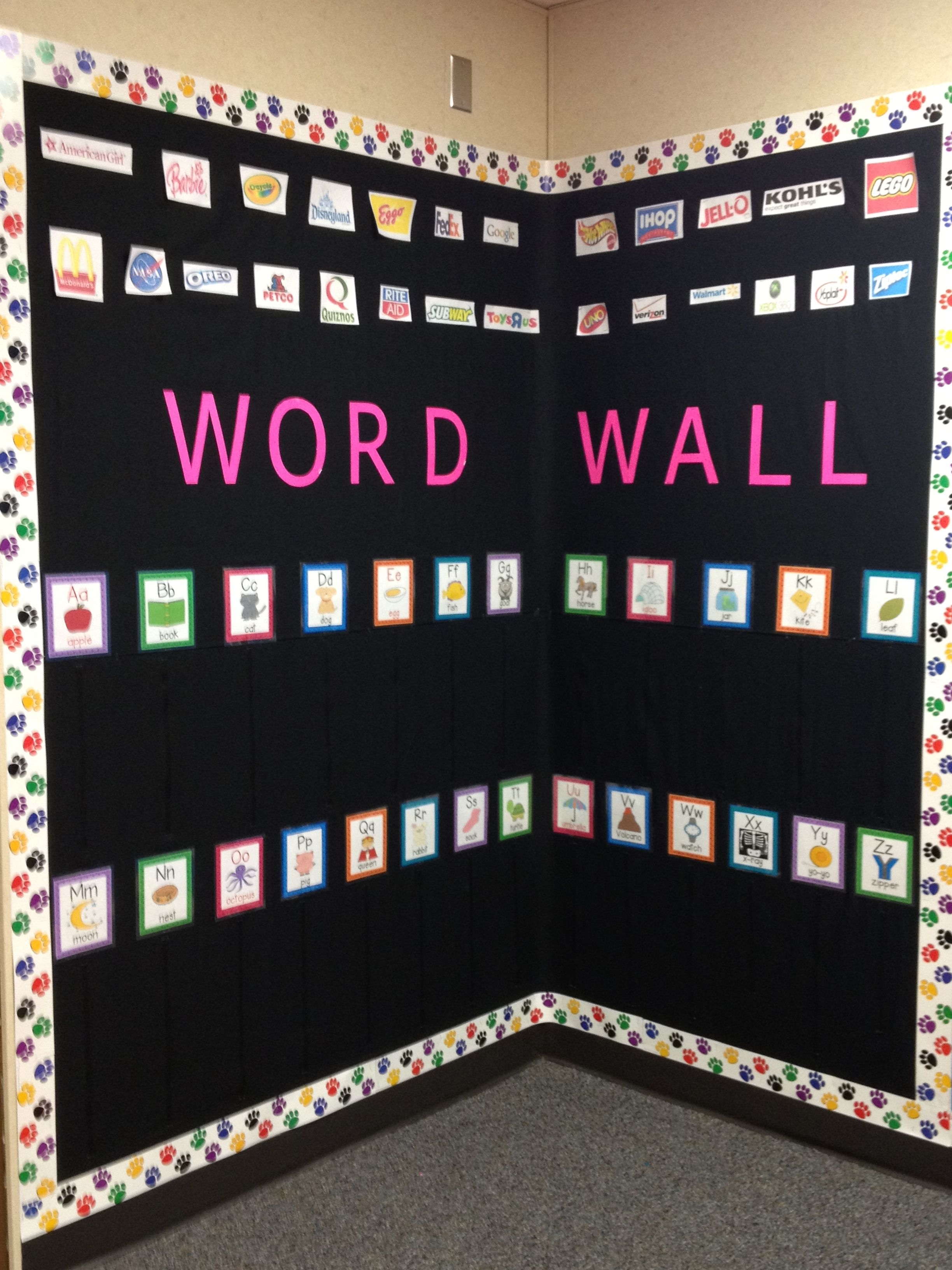 my interactive word wall i just finished putting it up on word wall id=55512