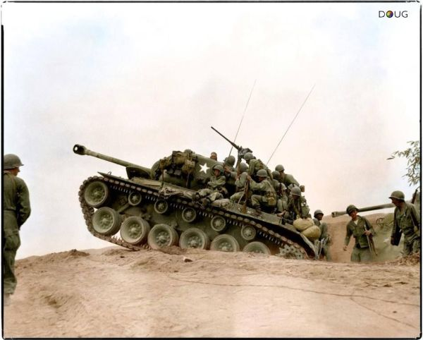 An M26 Pershing tank of the 72nd Tank Battalion ...