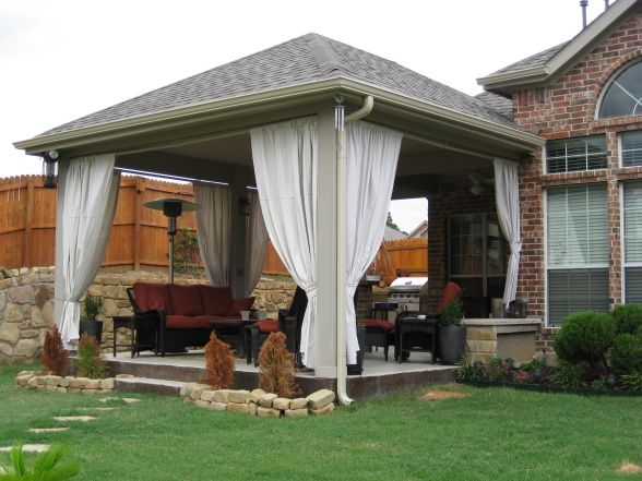 Outdoor living space, We extended our patio and originally ... on Extended Covered Patio Ideas id=27553