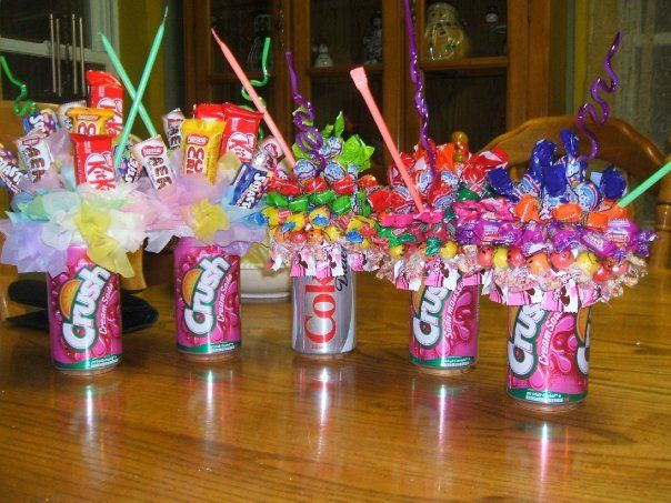 Great For A Kids PartySoda Can Candy Bouquets Stick