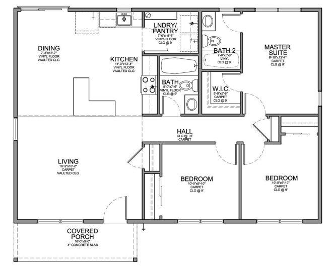 Modern 3 Bedroom House Floor Plans Small