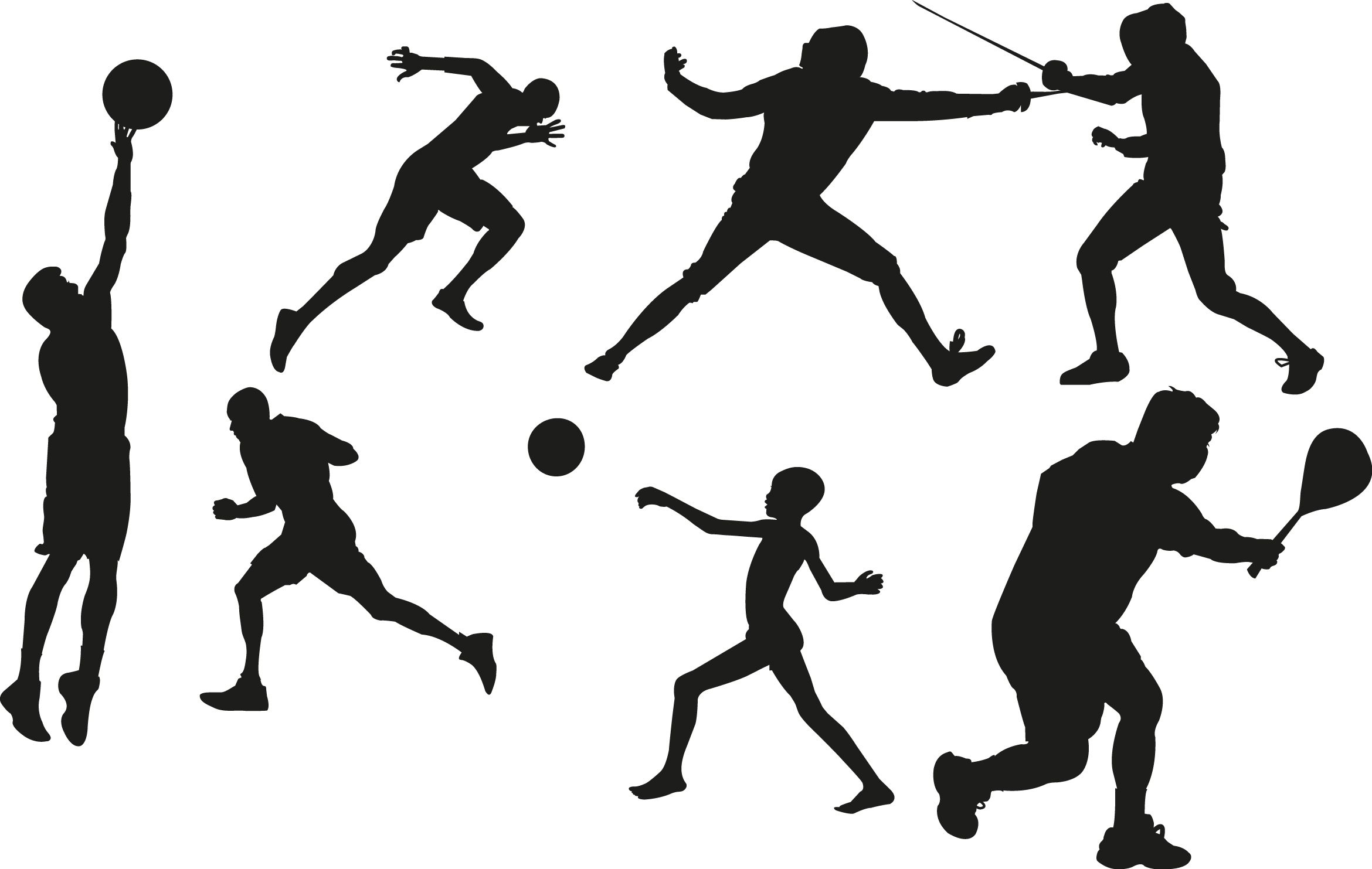 Sports Silhouette Clip Art Professional Sports Is My