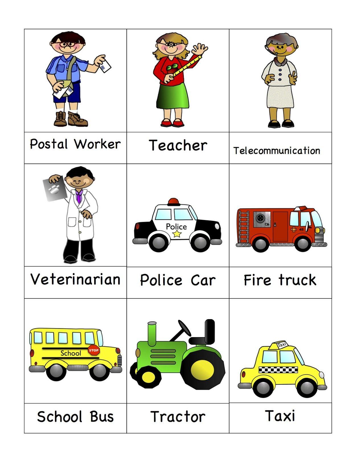 Preschool Pr T Bles Munity Helpers M Ny Free Pr T Bles