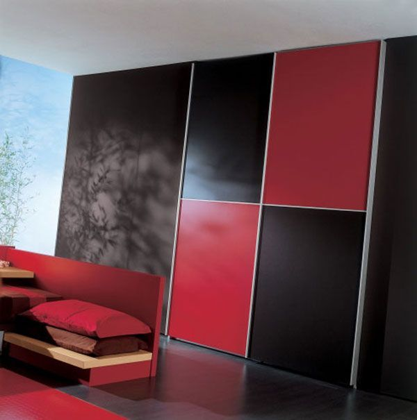 elegant black and red bedroom | red bedrooms, bedrooms and interiors