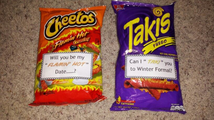 Hot cheetos takis ask to dance formal prom craft