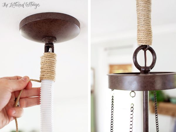 Diy Chandelier Chain Cover The Lettered Cottage