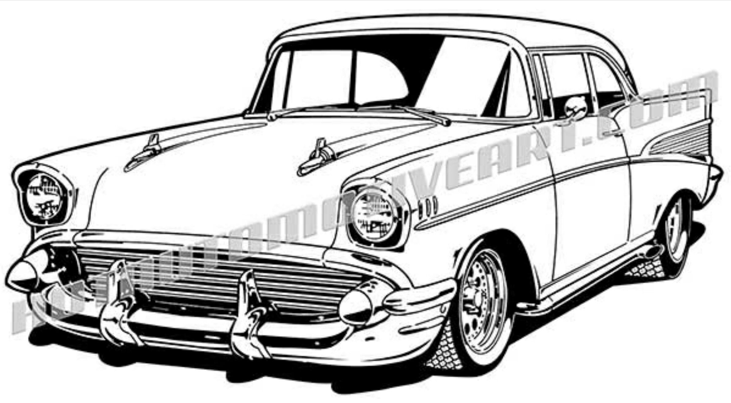 Chevy Truck Drawings Sketch Coloring Page