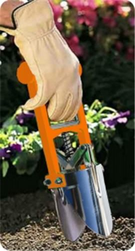 Neon Orange Dirt Snatcher Planting Tool