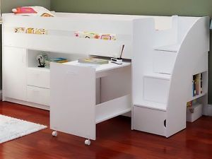 Mid Sleeper Cabin Bed With Mattress Storage And