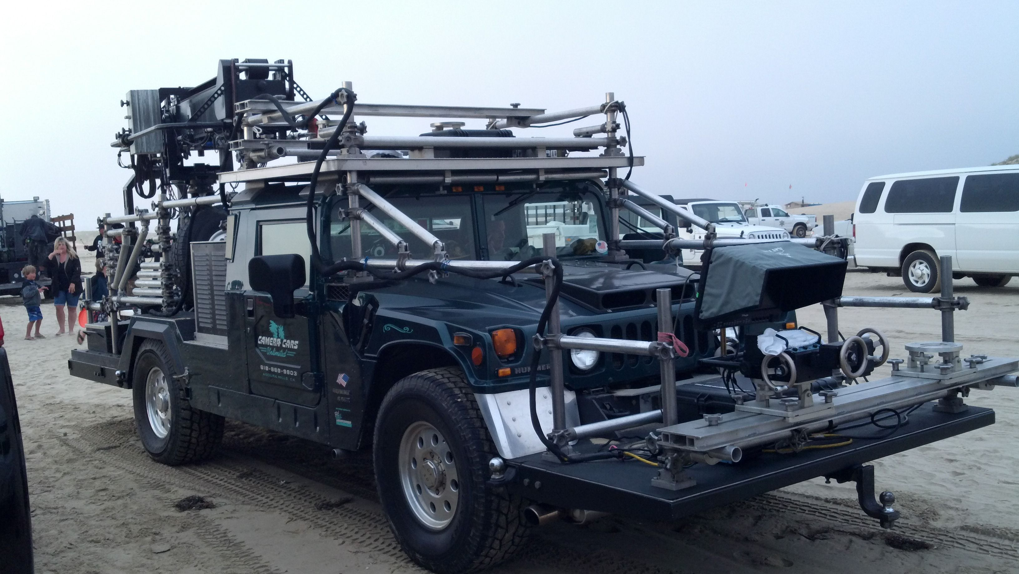 Hummer Camera truck out in the Pismo Dunes filming a mercial