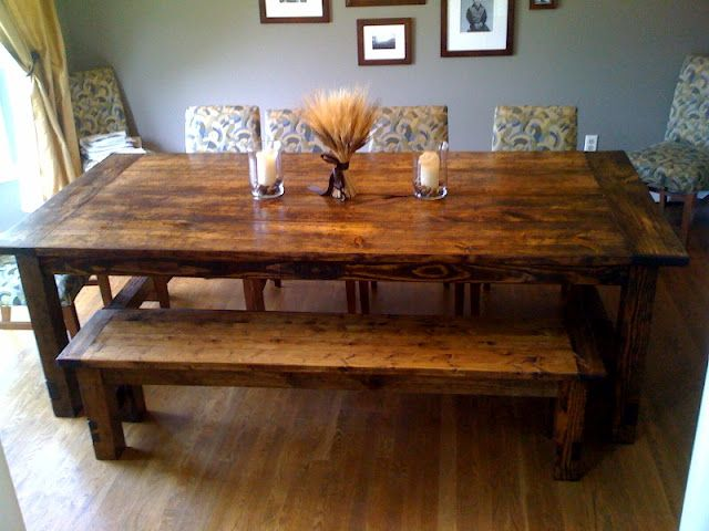 Make Your Own Farm Table. Im Really Starting To LOVE These