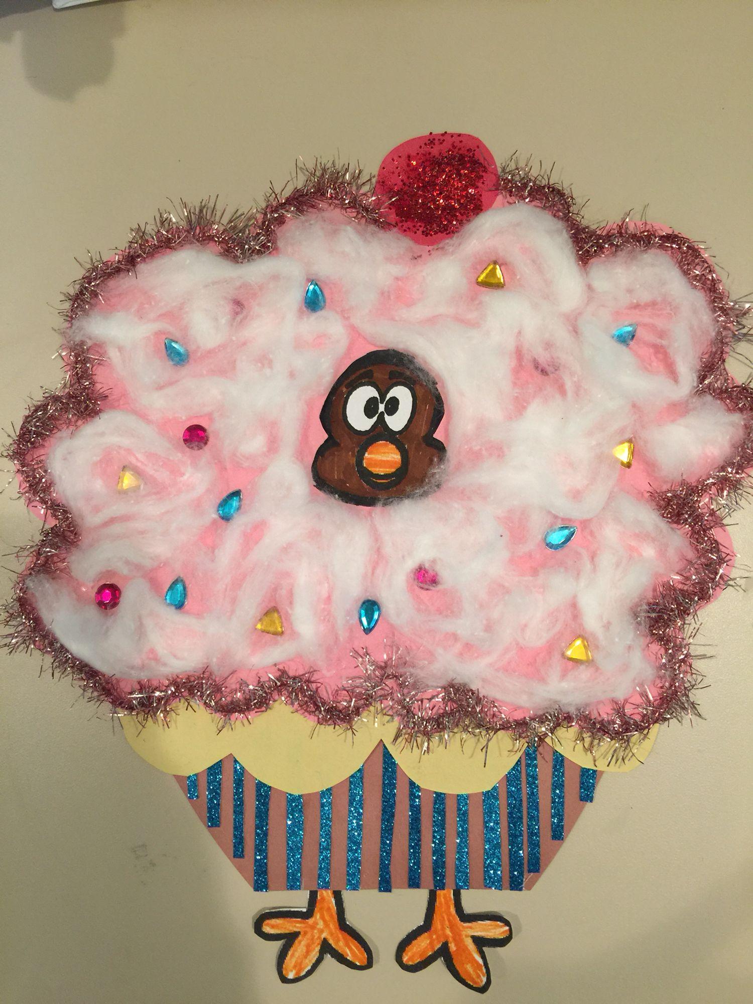 Turkey Disguise Cupcake
