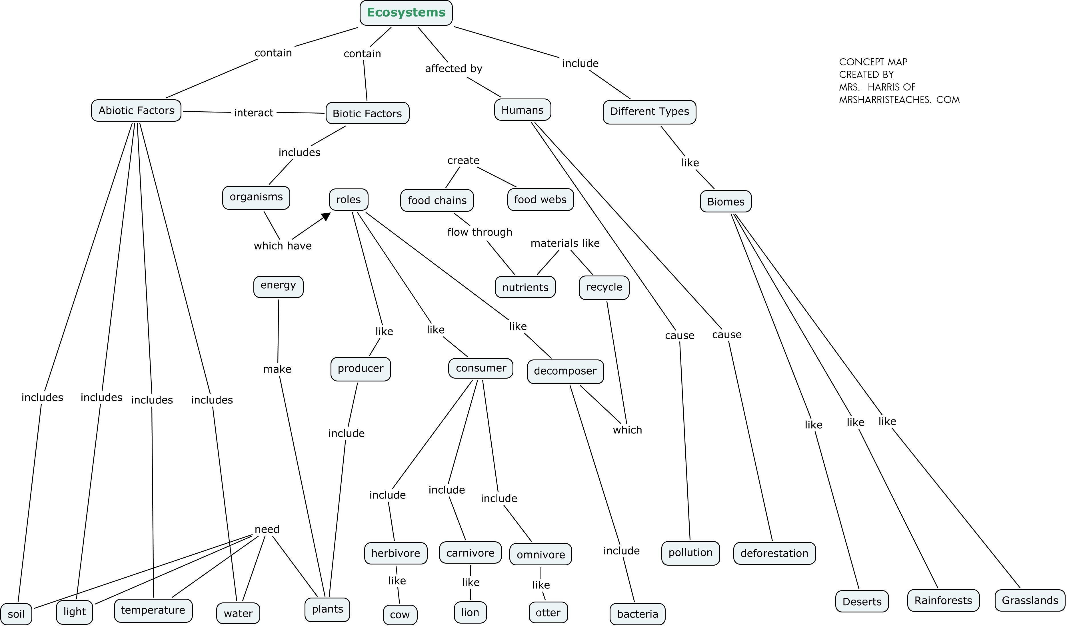 Use This Concept Map To Create A Summary Of The Concept Of