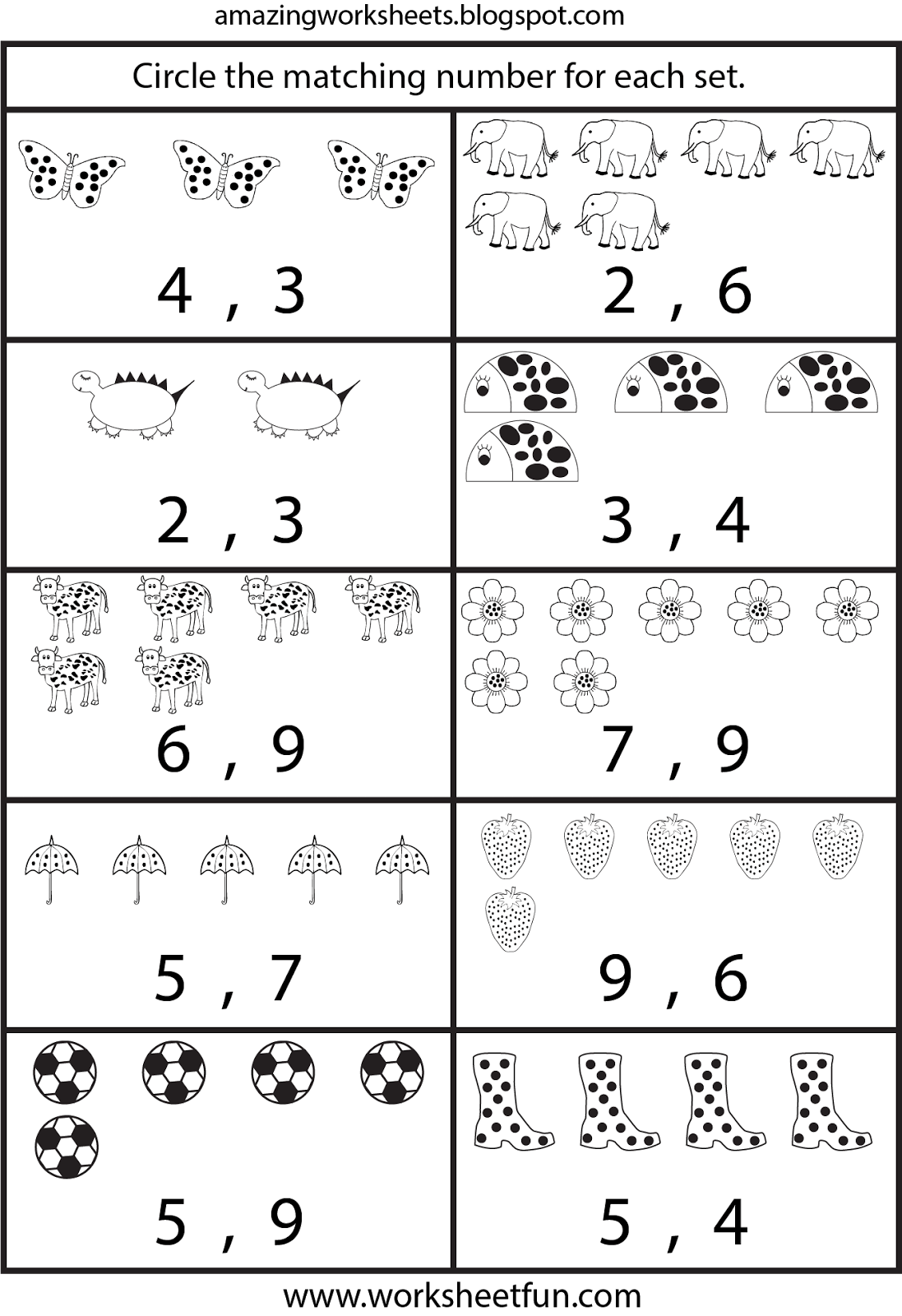 Free Printable Worksheets Counting Worksheets For