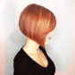 Handpainted red balayage with copper highlights by aveda artist