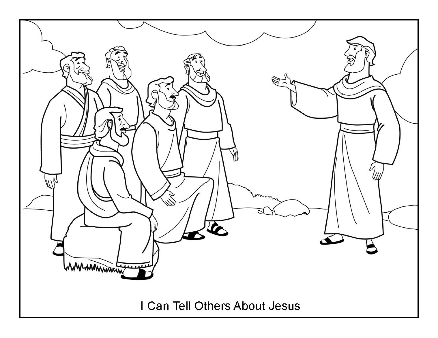 Free Coloring Pages Download I Can Tell Others About Jesus Page Dibujos Pinterest Of