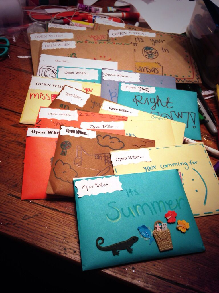 I Made These Open When Letters Fort Best Friend Moving
