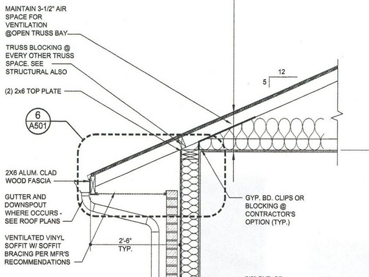 Residential Brick Wall Section Plan