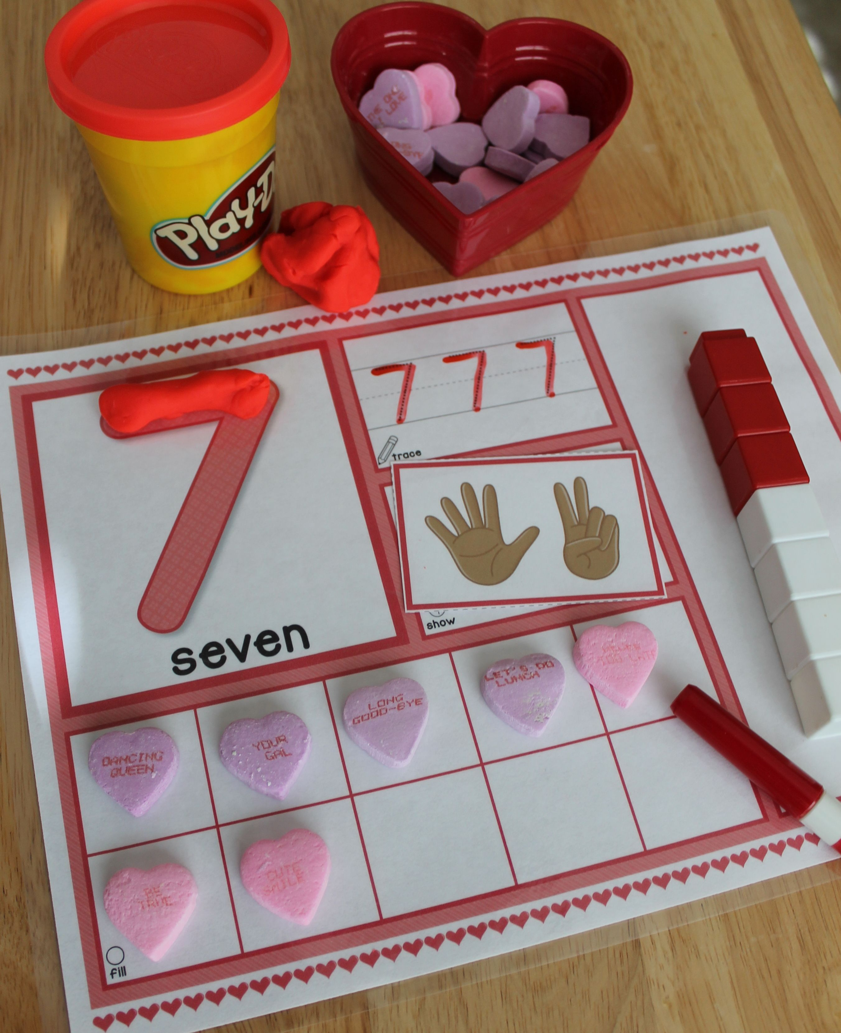 Valentine S Day 1 20 Number Mats Is A Hands On Math Activity For Preschool Pre K And