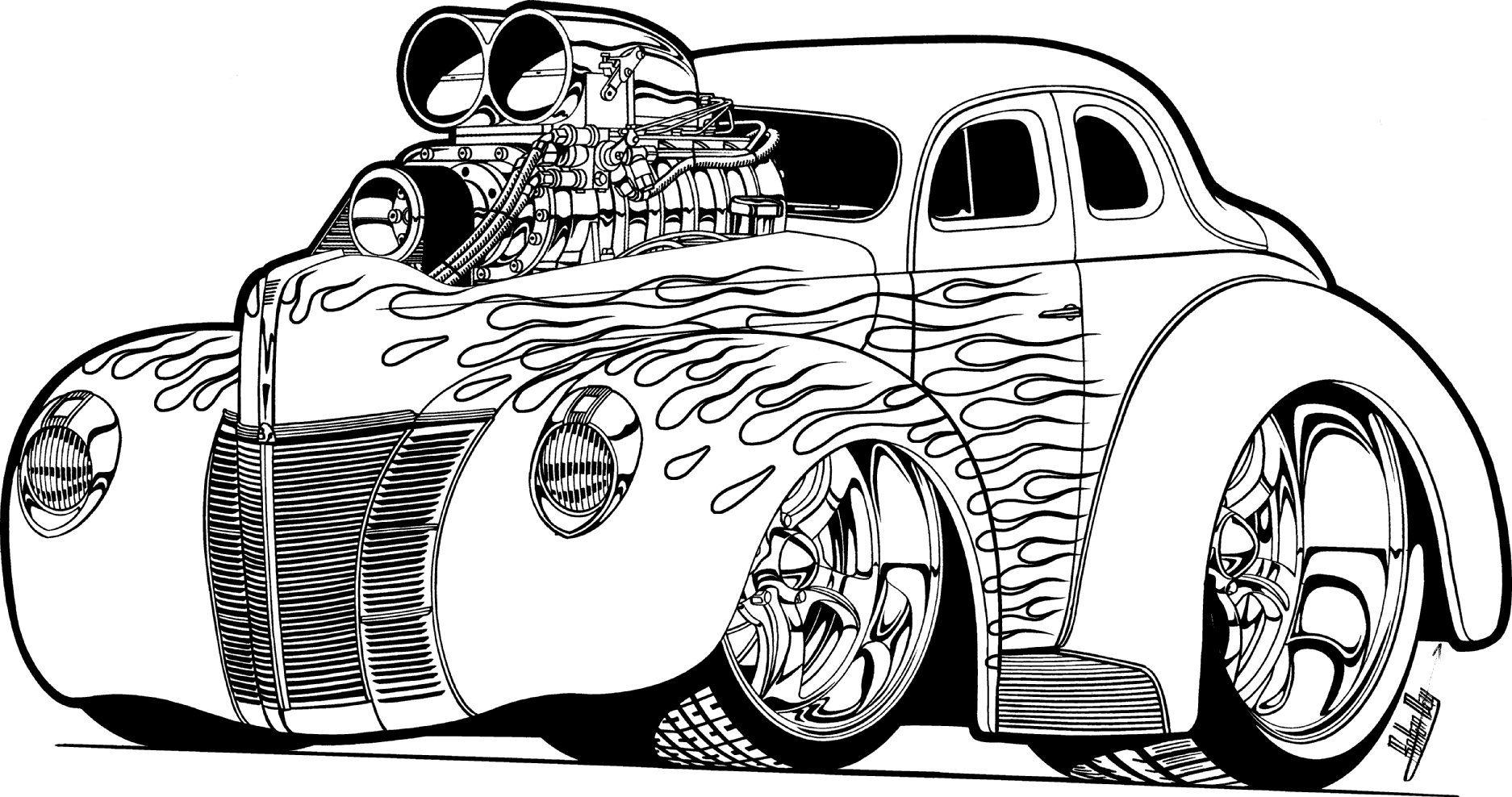 Cool Muscle Cartoon Cars