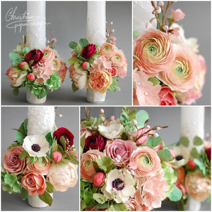 paper flower bridal bouquet  Christine paper design   Arcade de