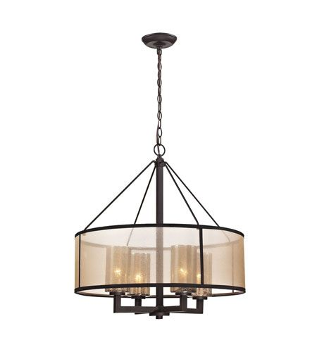 Elk 57027 4 Diffusion Light 24 Inch Oil Rubbed Bronze Chandelier Ceiling