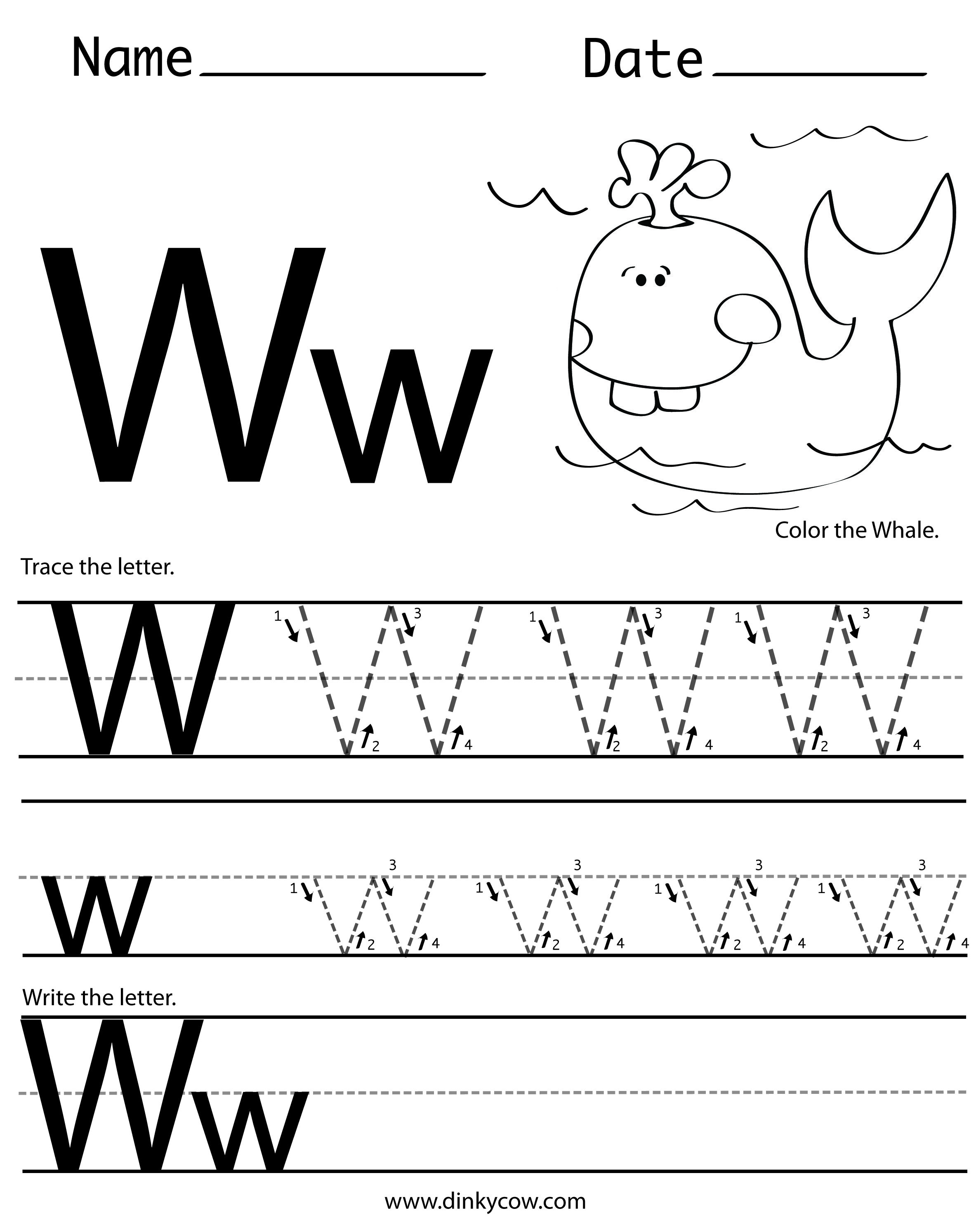 W Free Handwriting Worksheet Print 2 366 2 988 Pixels