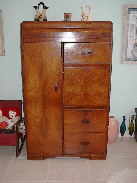 Collectibles General Antiques Waterfall Dresser Tall Chest Of Drawers Chifferobe Art Deco Bedroombedroom Setsmaster