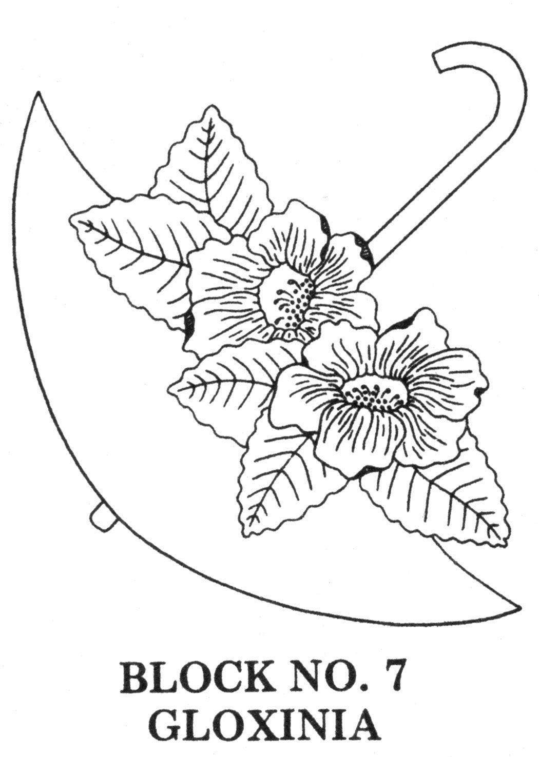 Umbrella Bouquets Applique Embroidered Quilt Pattern