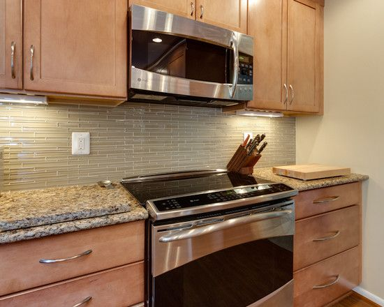 Great Kitchen Tile Backsplash to go with Maple Toffee ... on Maple Cabinets With Backsplash  id=90890