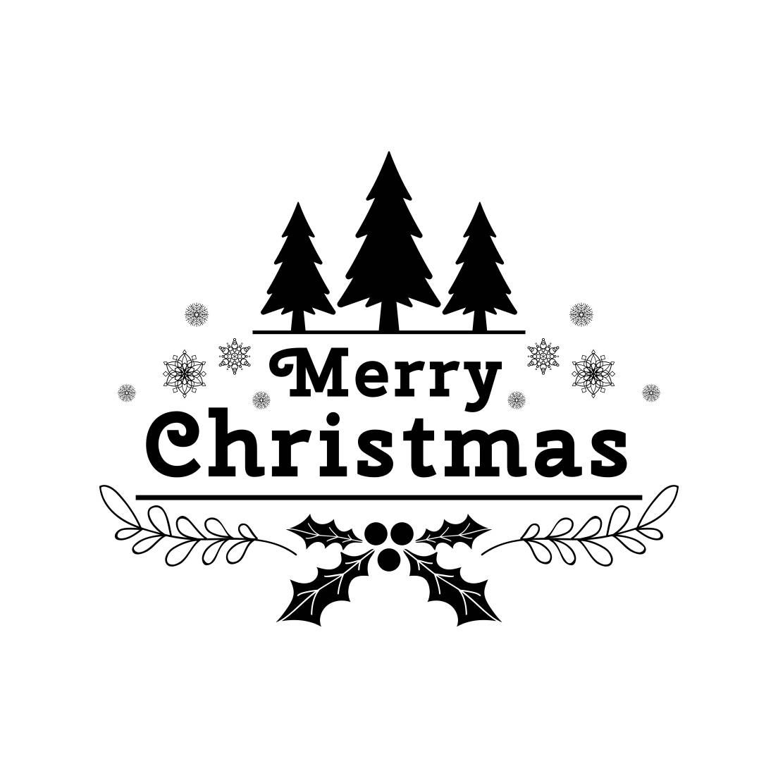 Merry Christmas Tree Snowflakes Graphics Svg Dxf Eps