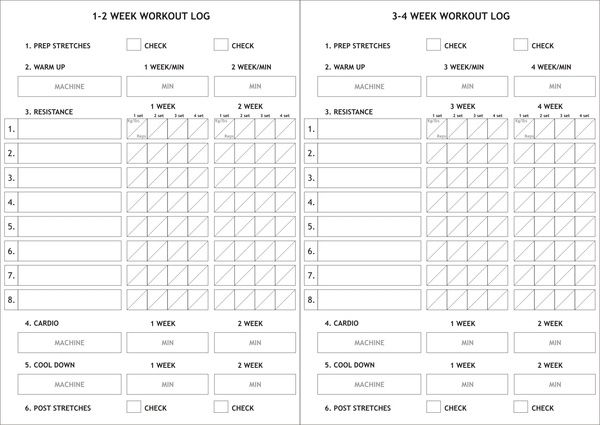 Made this 4 weeks gym log card. Only here on Pinterest ...