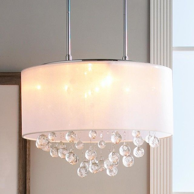 Casual Dinette Lighting Sheer Shade Crystal Ball Chandelier Shades Of Light