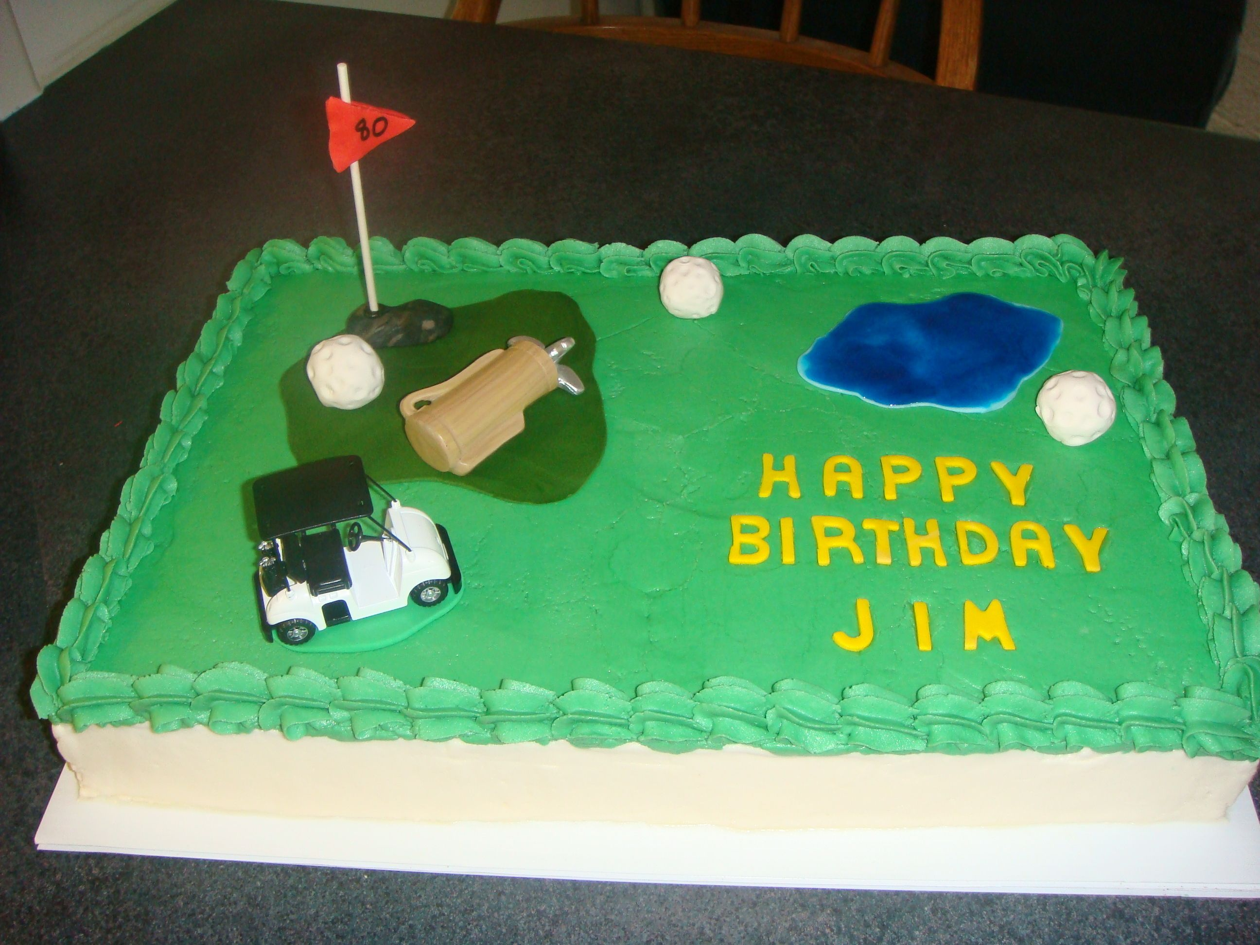 Golf Sheet Cake