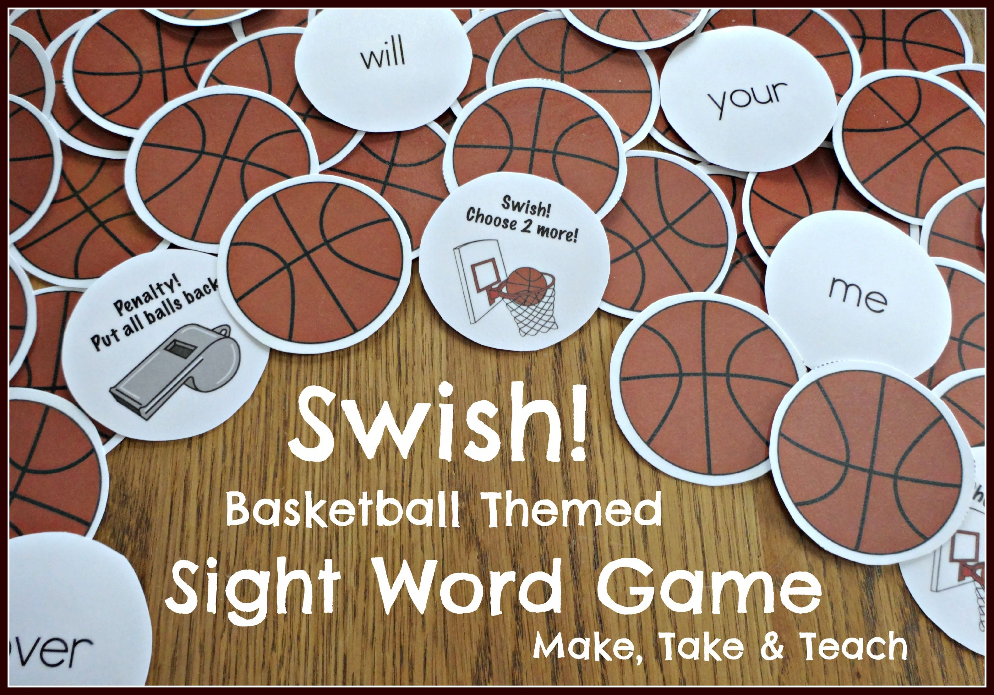 Fun Basketball Themed Activity For Learning And Practicing Sight Words Your Little Sports