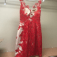 Short formal dress short formal dresses red lace and jovani dresses
