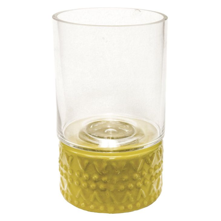 Sagebrook Home Round Candle Holder Yellow AC Products