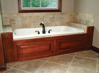 Tub Surround Wood Amp Tile For The Home Pinterest Tub