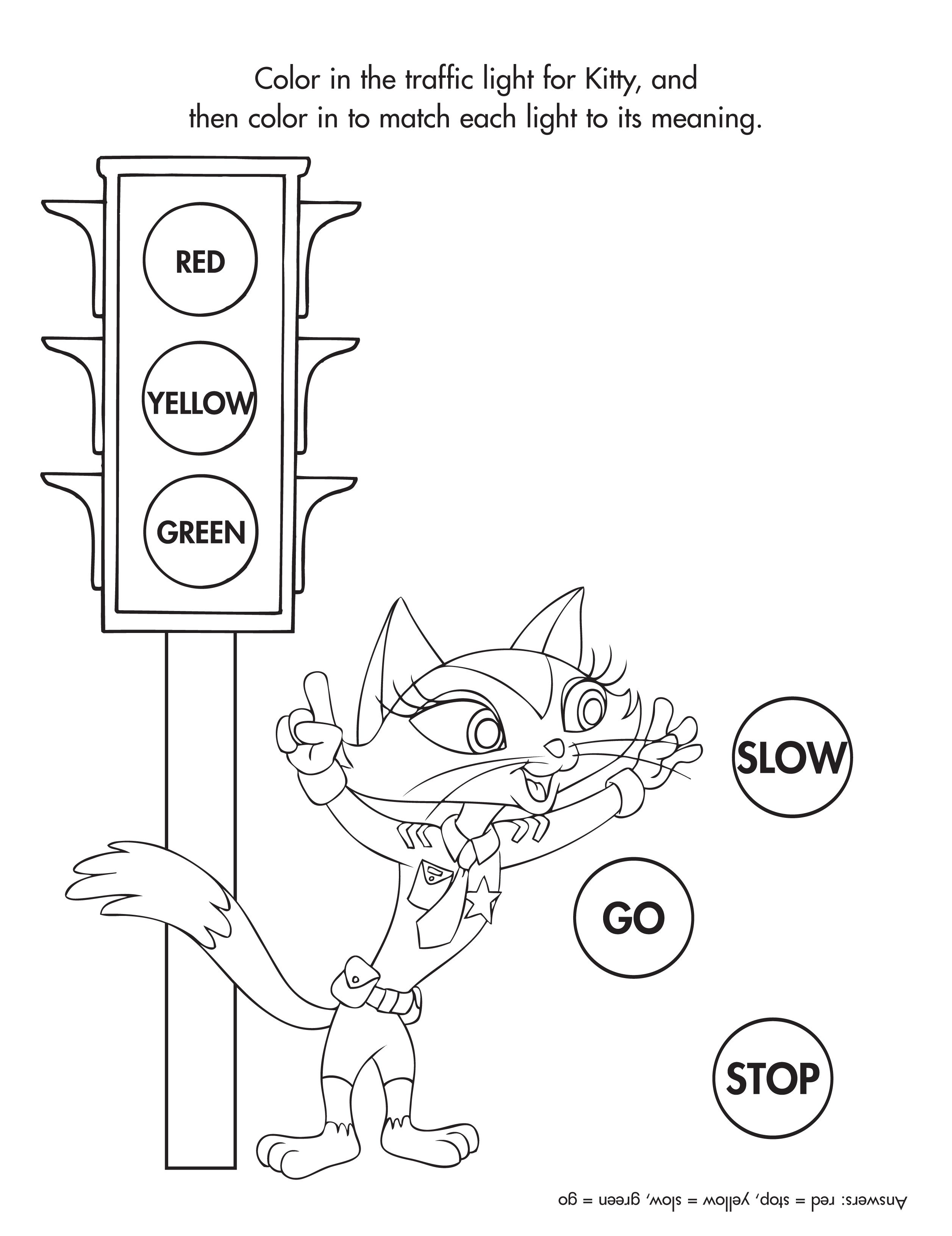 Help Ranger Kitty Determine The Correct Traffic Lights
