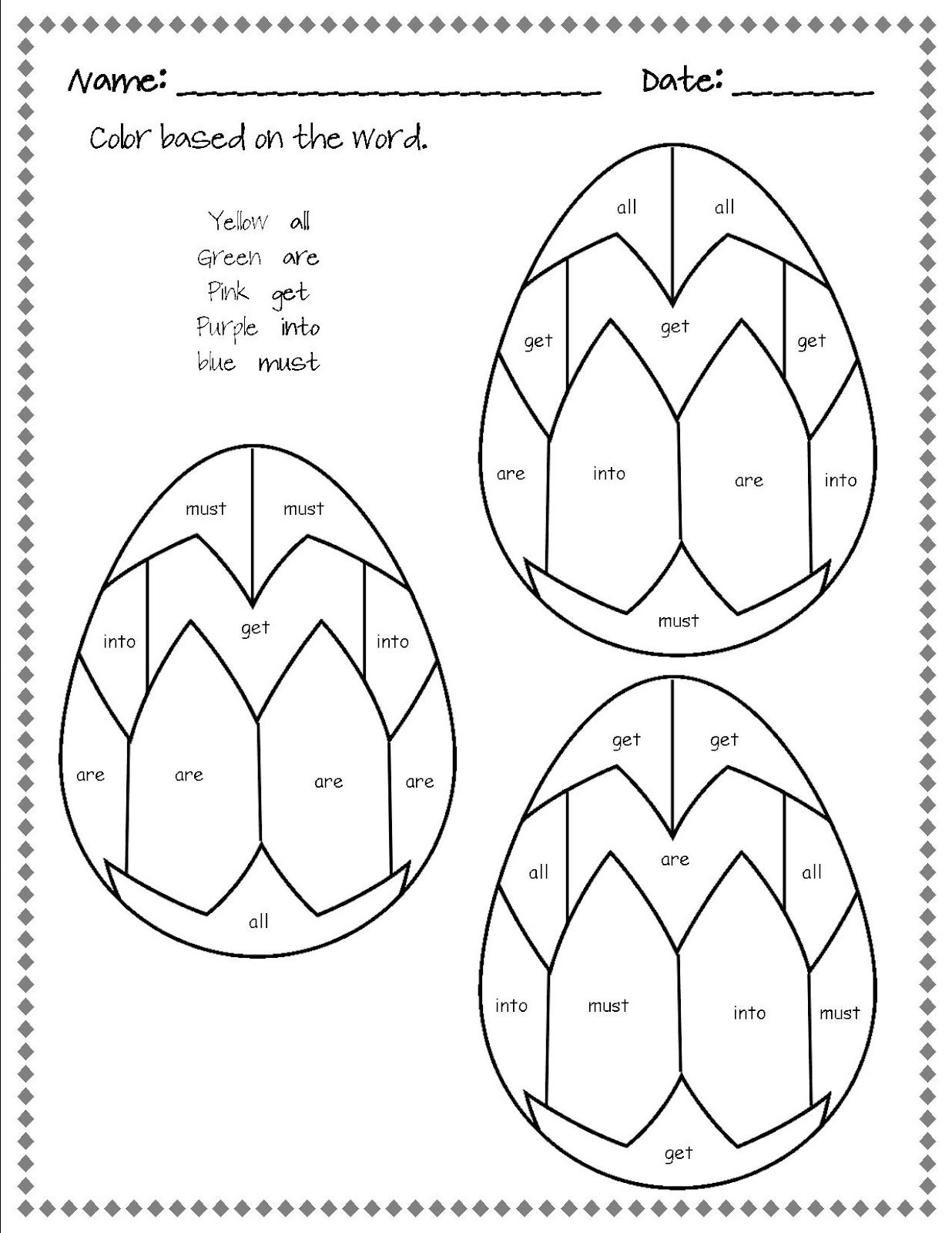 Easter Math Worksheet Ks2