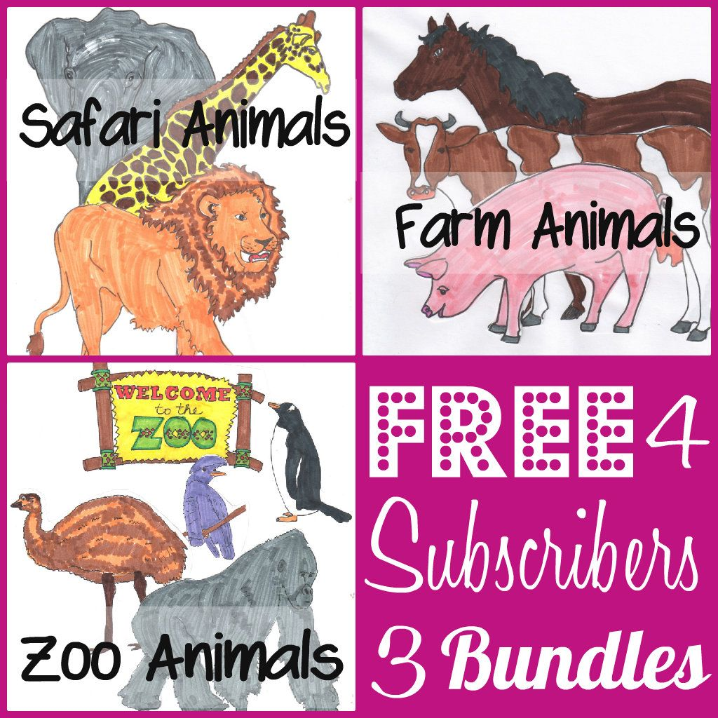 Free Preschool Animal Printables Bundles