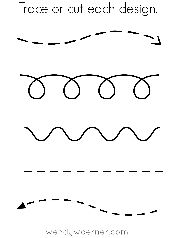 Free Printable Cut Amp Trace Preschool Worksheet